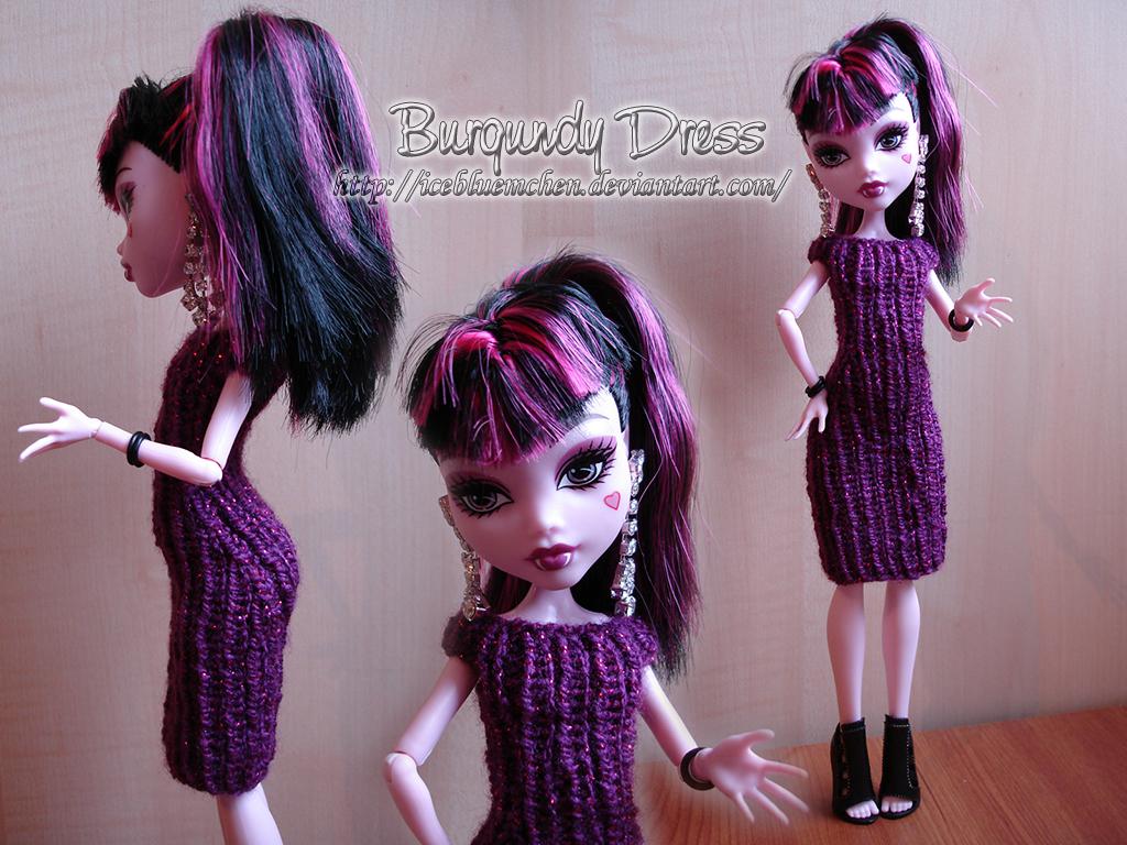 Burgundy Dress for Draculaura